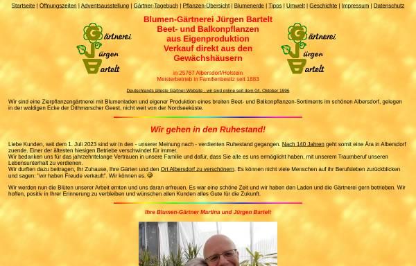 Vorschau von www.gaertnerei-bartelt.de, Gärtnerei Jürgen Bartelt