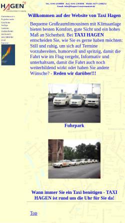 Vorschau der mobilen Webseite www.hagen-grossraumtaxi.de, Hagen Grossraumtaxi