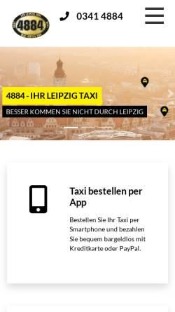 Vorschau der mobilen Webseite www.taxi4884.de, 4884 - Ihr Funktaxi GmbH