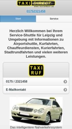 Vorschau der mobilen Webseite www.taxidirect.de, Taxidirect.de