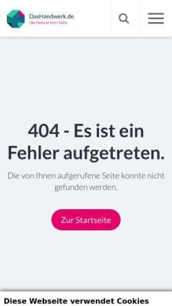 Vorschau der mobilen Webseite www.diekreishandwerkerschaften.de, Kreishandwerkerschaften in Schleswig-Holstein
