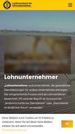 Vorschau der mobilen Webseite www.lohnunternehmer.de, Landesverband der Lohnunternehmen