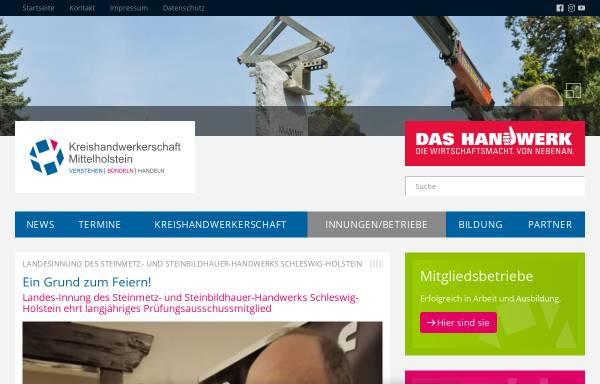 Vorschau von www.handwerk-mittelholstein.de, Steinmetzinnung Schleswig-Holstein
