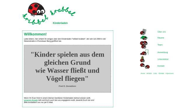 Vorschau von www.kribbelkrabbel.net, Kindertagesstätte Kribbel-Krabbel e.V.