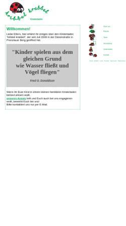 Vorschau der mobilen Webseite www.kribbelkrabbel.net, Kindertagesstätte Kribbel-Krabbel e.V.