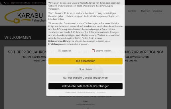 Vorschau von www.fahrschule-karasu.de, Fahrschule Karasu
