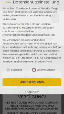 Vorschau der mobilen Webseite www.fahrschule-karasu.de, Fahrschule Karasu