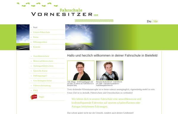 Vorschau von www.vornesitzer.de, Fahrschule vornesitzer GbR