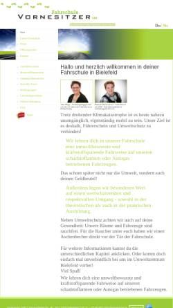 Vorschau der mobilen Webseite www.vornesitzer.de, Fahrschule vornesitzer GbR