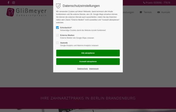 Vorschau von www.praxis-glienicke.de, Jana Glißmeyer
