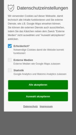 Vorschau der mobilen Webseite www.praxis-glienicke.de, Jana Glißmeyer
