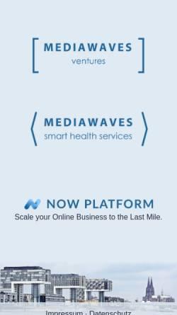 Vorschau der mobilen Webseite www.mediawaves.de, Jager Websolutions