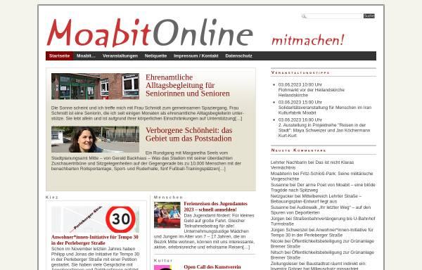 Vorschau von www.moabitonline.de, Moabit Online