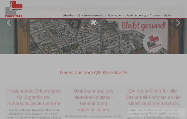 Vorschau von www.pankstrasse-quartier.de, Quartier Pankstraße