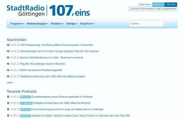 Vorschau von www.stadtradio-goettingen.de, Stadtradio Göttingen