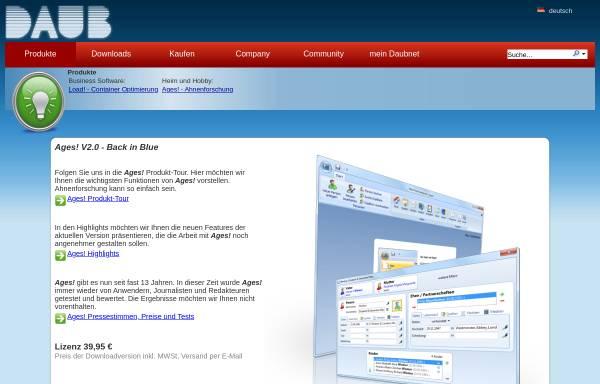 Vorschau von www.daubnet.com, Ages! - Software zur Genealogie