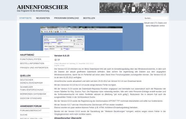 Vorschau von www.ahnenforscher.ch, Ahnenforscher