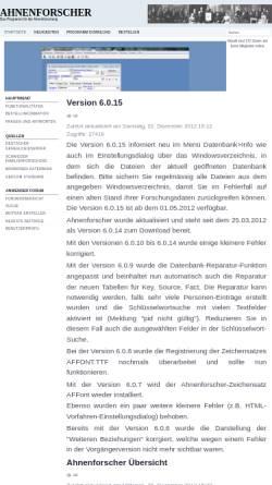 Vorschau der mobilen Webseite www.ahnenforscher.ch, Ahnenforscher