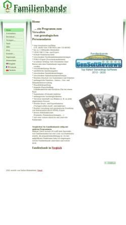 Vorschau der mobilen Webseite www.familienbande-genealogie.de, Familienbande