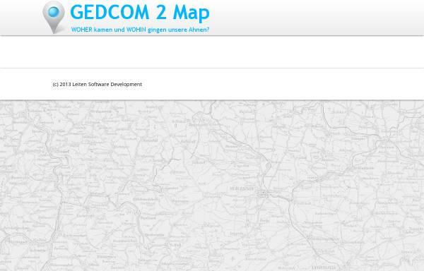 Vorschau von www.gedcom2map.de, GEDCOM 2 Map