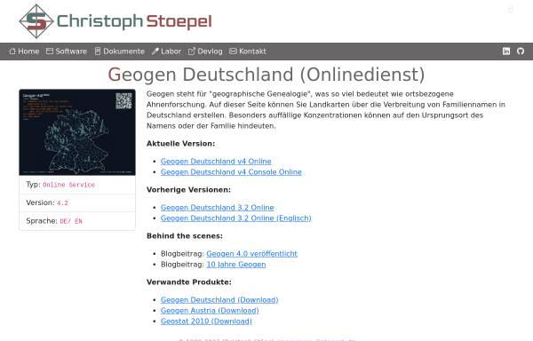 Vorschau von christoph.stoepel.net, Geogen
