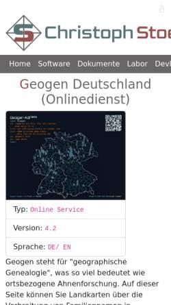 Vorschau der mobilen Webseite christoph.stoepel.net, Geogen