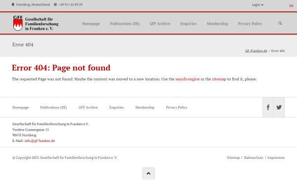Vorschau von www.gf-franken.de, GFAhnen