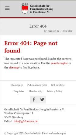 Vorschau der mobilen Webseite www.gf-franken.de, GFAhnen