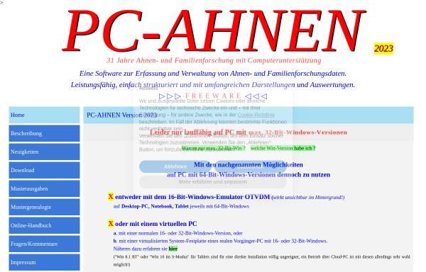 Vorschau von www.pcahnen.de, PC-AHNEN