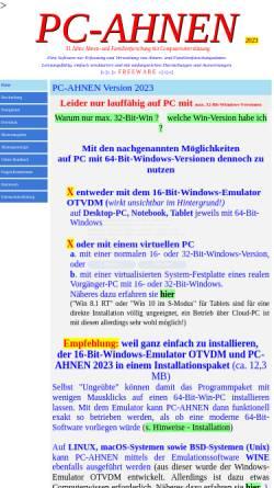 Vorschau der mobilen Webseite www.pcahnen.de, PC-AHNEN