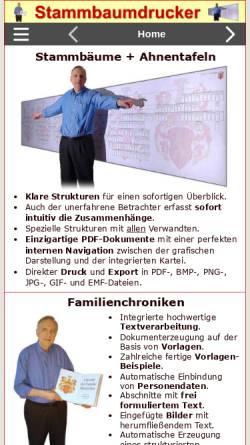 Vorschau der mobilen Webseite www.stammbaumdrucker.de, Stammbaumdrucker