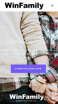 Vorschau der mobilen Webseite winfamily.com, WinFamily