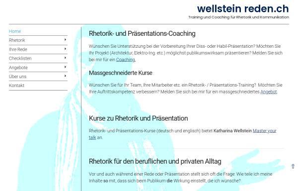 Vorschau von www.reden.ch, Wolfgang Wellstein