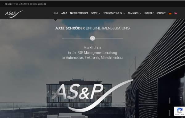 Vorschau von asup.de, Axel Schröder & Partner Unternehmensberatung
