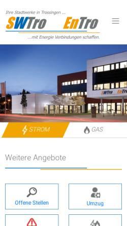 Vorschau der mobilen Webseite www.swtro.de, SWTro GmbH