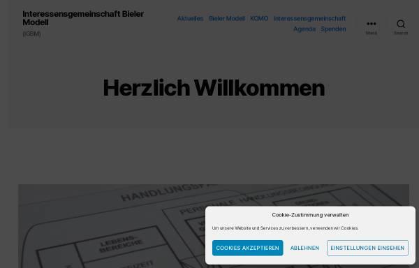 Vorschau von www.bielermodell.ch, Arbeitskreis Bieler Modell