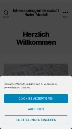 Vorschau der mobilen Webseite www.bielermodell.ch, Arbeitskreis Bieler Modell