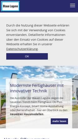 Vorschau der mobilen Webseite www.blauelagune.at, Blaue Lagune