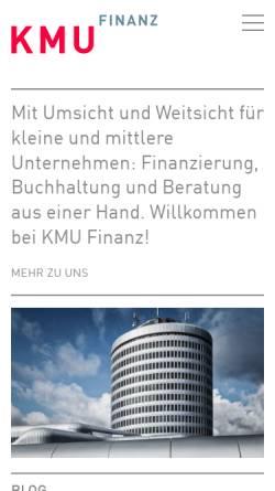 Vorschau der mobilen Webseite www.kmufinanz.ch, KMU Finanz AG