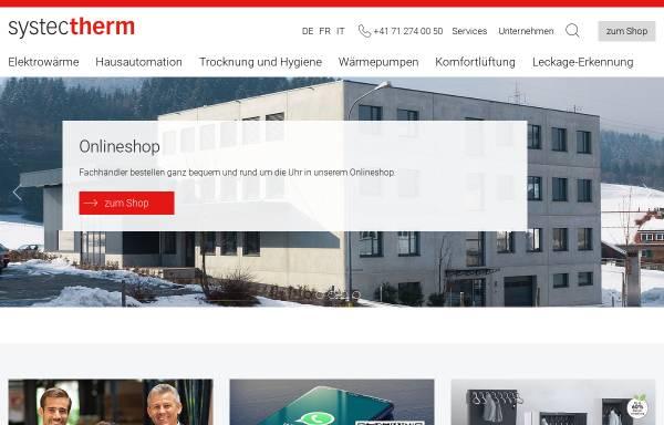 Vorschau von www.systectherm.ch, Systec Therm AG
