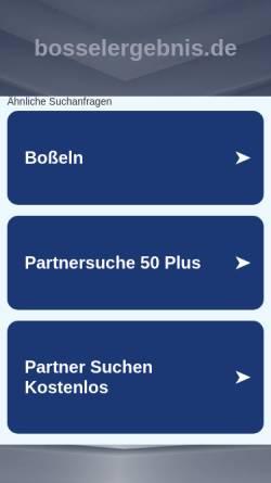 Vorschau der mobilen Webseite bosselergebnis.de, Bosselergebnisse aus Oldenburg/Ostfriesland