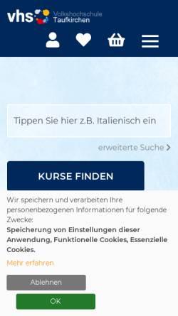 Vorschau der mobilen Webseite www.vhs-taufkirchen.de, VHS Taufkirchen