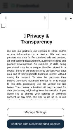 Vorschau der mobilen Webseite www.freudenthal.biz, Chalkidi außerhalb der Urlaubszeit [Annette & Lars Freudenthal]