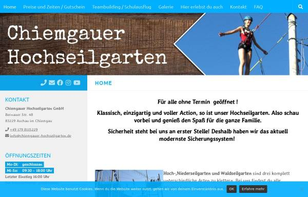 Vorschau von www.chiemgauer-hochseilgarten.de, Chiemgauer Hochseilgarten