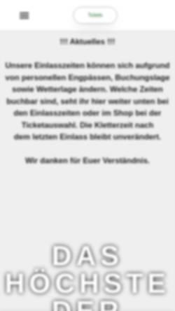 Vorschau der mobilen Webseite www.kletterwald.net, Kletterwald Niederrhein