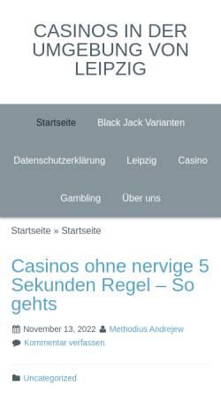 Vorschau der mobilen Webseite www.twid-leipzig.de, TWID-Leipzig, Hochseilgarten