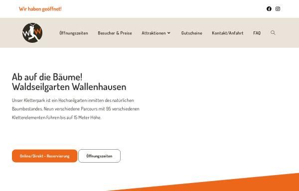 Vorschau von www.waldseilgarten-wallenhausen.de, Waldseilgarten Wallenhausen