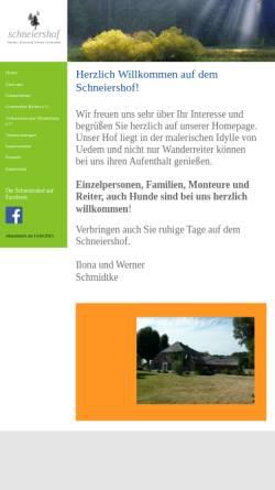 Vorschau der mobilen Webseite www.ferien-am-niederrhein.de, Ferienwohnung U. Wackermann