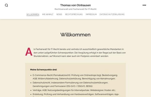 Vorschau von www.olnhausen.com, Von Olnhausen, Anwaltskanzlei