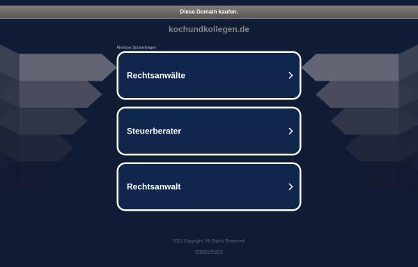 Vorschau von www.kochundkollegen.de, Koch und Kollegen, Anwaltssozietät